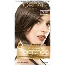 L'Oreal Paris Superior Preference Fade-Defying + Shine Permanent Hair Color, 6A Light Ash Brown, 1 kit Hair Dye