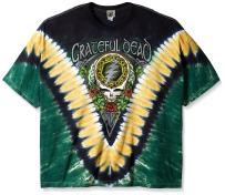 Liquid Blue Men's Grateful Dead Shamrock Tie Dye T-Shirt
