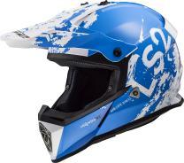 LS2 Helmets Motorcycle & Powersports Helmet's Off-Road Fast Mini V2 (Spot Blue White, Medium)