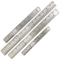 Mr. Pen- Steel Rulers, 4 Pieces (6, 8, 12, 14 inch) Rulers, Metal Ruler, Stainless Steel Ruler, School Ruler, Ruler Inches and Centimeters, Drawing Ruler, Measuring Ruler, 6 inch Ruler, 12 inch Ruler