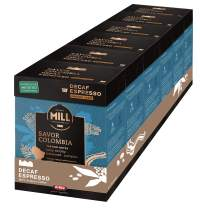 Mr and Mrs Mill Decaf Espresso Medium Roast Verismo Compatible Savor Colombia Single Serve Coffee Pods 72 Count (6 boxes of 12 Pods each)