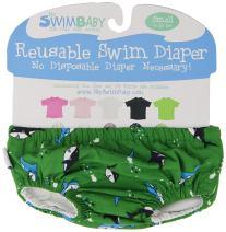 My Swim Baby Diaper New Sizing, Green Chomp, Small