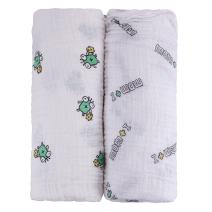 Unique MOM and I Design, Premium Muslin Swaddle Blankets (2 Pack), Natural, Extra Soft, Large 47X47, Boys & Girls, Include Baby Bib, Infant to Toddler, Baby Shower Gift Set