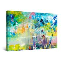 """Startonight Canvas Wall Art Abstract Happy Large Painting Framed 32"""" x 48"""""""
