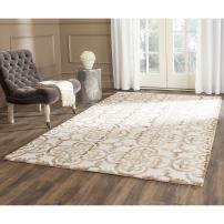 Safavieh Dip Dye Collection DDY711E Handmade Moroccan Geometric Watercolor Ivory and Camel Wool Area Rug (8' x 10')