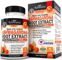 Ashwagandha Root Extract Caps with L-Theanine for Stress & Anxiety Relief- Healthy Mood Stabilizer & Energy Booster - Supplement for Thyroid, Cortisol, Adrenal Support & Improved Focus
