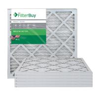 FilterBuy 18x22x1 MERV 8 Pleated AC Furnace Air Filter, (Pack of 6 Filters), 18x22x1 – Silver