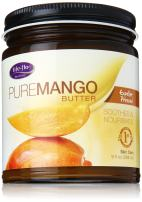 Life-flo Pure Mango Butter   Soothing Moisturizer for Dry Skin & Hair, Lips & DIY Products  Expeller Pressed   9oz