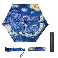 Jiesmart Outer Black Umbrella Starry Night UV Anti very light 3 folding 6 ounces Excellent parasol umbrella