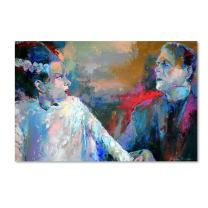 Frankenstein and His Wife by Richard Wallich, 12x19-Inch Canvas Wall Art