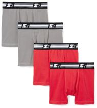 Starter Boys' 4-Pack Stretch Performance Cotton Boxer Brief, Amazon Exclusive
