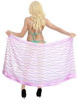 LA LEELA Womens Plus Size Sarong Swimwear Cover Up Summer Beach Wrap Full Long I