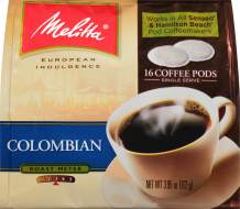 Melitta Coffee Pods for Senseo & Hamilton Beach Pod Brewers, Colombian, 18 Count