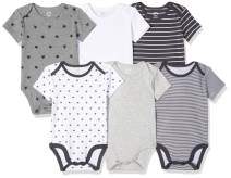 Amazon Essentials Boys' Infant 6-Pack Short-Sleeve Bodysuit