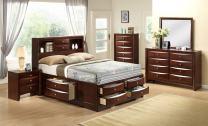 Cambridge 5 Piece Orleans Storage Bedroom Suite, Queen, Cherry