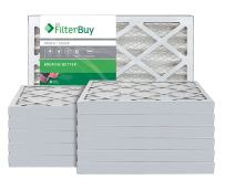FilterBuy 24x30x2 MERV 8 Pleated AC Furnace Air Filter, (Pack of 12 Filters), 24x30x2 – Silver