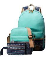 H HIKKER-LINK School Backpack Set Bookbag Shoulder Bag Pencil Case Water Blue