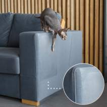 PETFECT Cat Proof Couch Protector & Scratching Furniture Guard w/Leather Safe Design & Grip-Tight Adhesive - Effective Sofa Leg & Corner Scratch Deterrent & Repellant