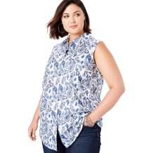 Roamans Women's Plus Size Sleeveless Kate Shirt