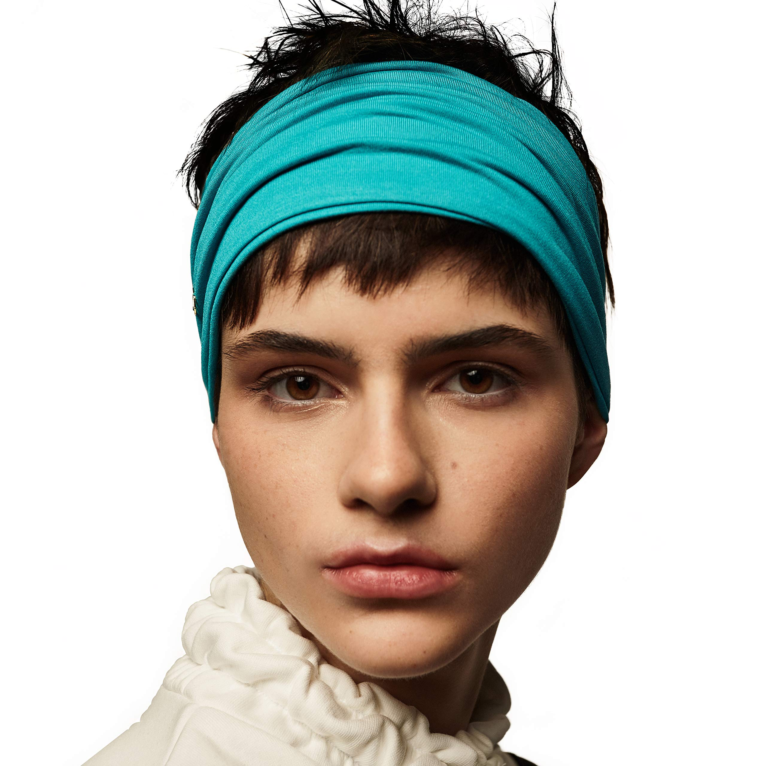 """BLOM Original Headbands For Women. 6"""" Multi Style Design for Yoga Workout Running Athletic. Wear Wide Turban Knotted. Ethically Made in Bali."""