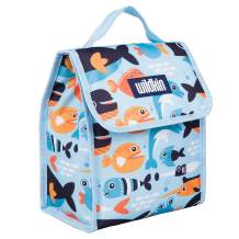 Wildkin Kids Insulated Lunch Bag for Boys and Girls, Lunch Bags is Ideal Size for Packing Hot or Cold Snacks for School and Travel, Mom's Choice Award Winner, BPA-Free, Olive Kids (Big Fish)