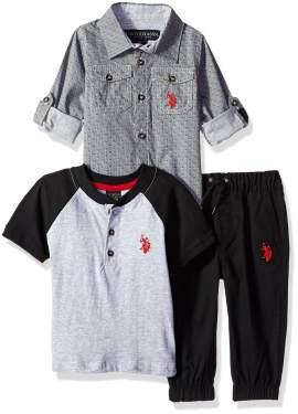 T-Shirt and Pant Set U.S Boys Long Sleeve Polo Assn