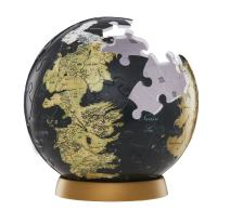 4D Cityscape Game of Thrones (GoT) 3D Westeros and Essos Globe Puzzle, 3-inch