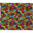Deny Designs Sharon Turner Graffiti Buttons Fleece Throw Blanket, 30 x 40