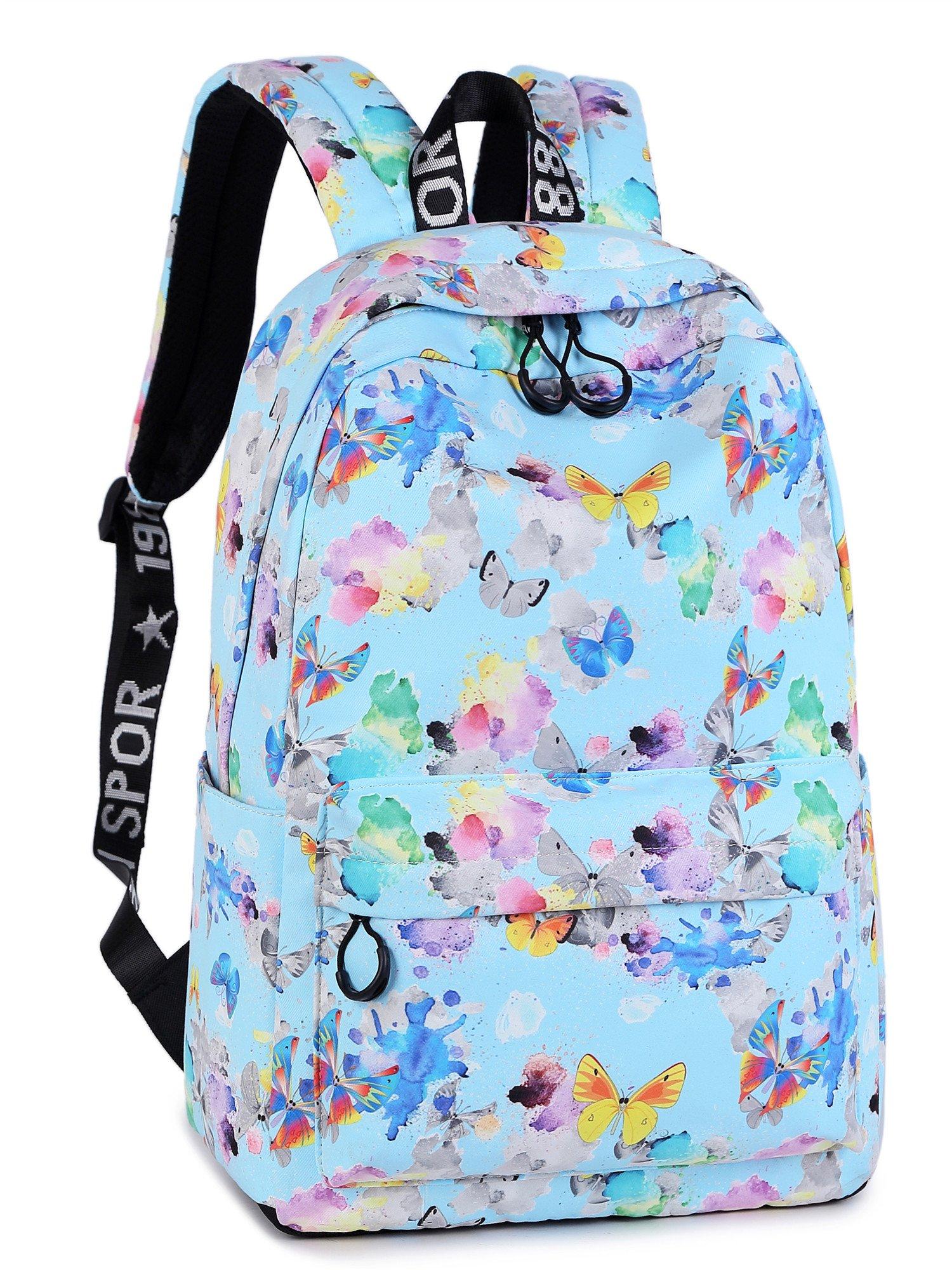 Leaper Butterfly Backpack School Backpack Girls Travel Satchel Daypack Blue BF