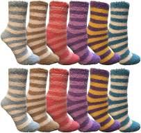 Yacht & Smith Women Fuzzy Socks Crew Socks, Warm Butter Soft (9-11)