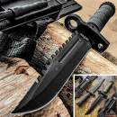 "Tactical Knife Hunting Knife Survival Knife 12.75"" Fixed Blade Knife With Combat Blade Fire Starter Knife Sharpener Compass Camping Accessories Camping Gear Survival Kit Survival Gear 79408"