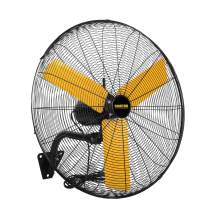 Master 24 Inch Industrial High Velocity Wall Mount Fan - Direct Drive, All-Metal Construction with Steel-Coated Safety Grill, 3 Speed Settings (MAC-24W)