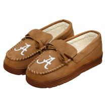 FOCO Mens NCAA College Team Logo Moccasin Slippers