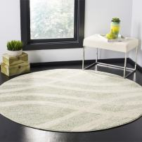 Safavieh Adirondack Collection ADR125X Sage and Cream Modern Round Area Rug (6' in Diameter)