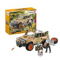 Schleich Wild Life Off-Roader with Rope Winch 17-piece Educational Playset for Kids Ages 3-8