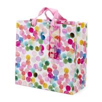 """Hallmark 10"""" Large Square Gift Bag (Watercolor Dots, Just for You) for Birthdays, Mothers Day, Easter, Graduations, Retirements and More"""