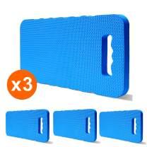 "Gardzen 3-Pack Garden Kneeling Cushions - for Gardening, Baby Bath, Yoga, Pilates, Exercise, 16""x8""x1"", Blue"