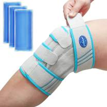 Knee Brace with Ice Pack Wrap ,Kungix Hot/Cold Gel Pack Compression Brace, Medical Grade Knee Support Strap for Arthritis Pain/Tendonitis/Meniscus Tear/ACL/Surgery Recovery/Running/Men/Women