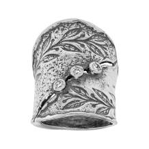 Silpada 'Nature's Majesty' Wide Ring with Cubic Zirconia in Sterling Silver