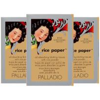 Palladio Rice Paper Tissues, Warm Beige, 40 Sheets (Pack of 3), Face Blotting Sheets with Natural Rice Powder Absorbs Oil, Helps Skin Stay Looking Fresh and Smooth, Compact Size for Purse or Travel