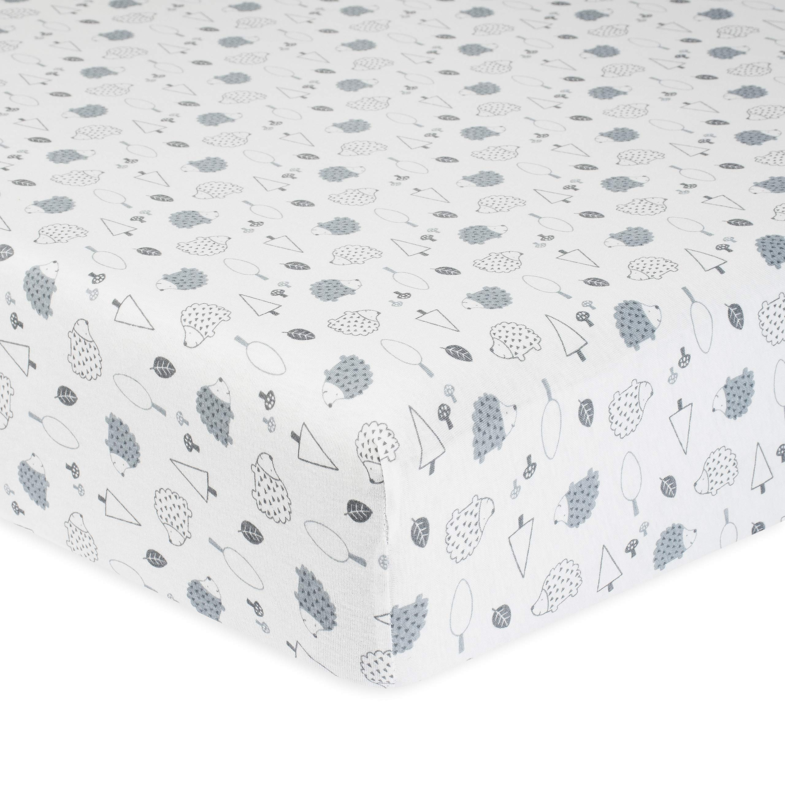 Gerber Organic Sheet, Grey Hedgehog, One Size