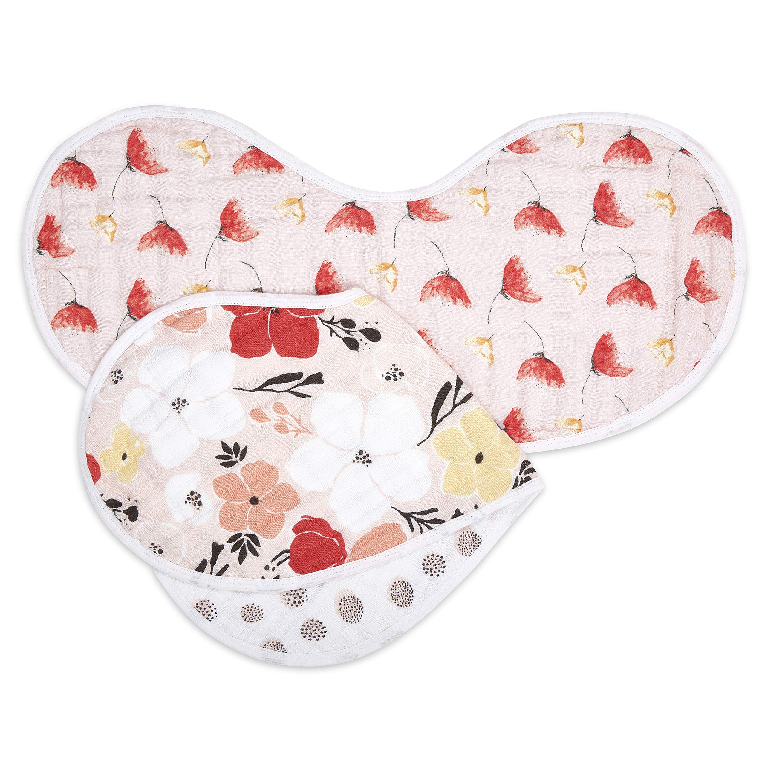 aden + anais Burpy Baby Bib, 100% Cotton Muslin, 4 Layer Multi Use Burping Cloth, Super Soft & Absorbent Burp Rag for Infants, Newborns and Toddlers, 2 Pack, Picked for You