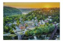 Harpers Ferry, West Virginia - Sunset View from Maryland Heights 9005618 (Premium 1000 Piece Jigsaw Puzzle for Adults, 19x27, Made in USA!)