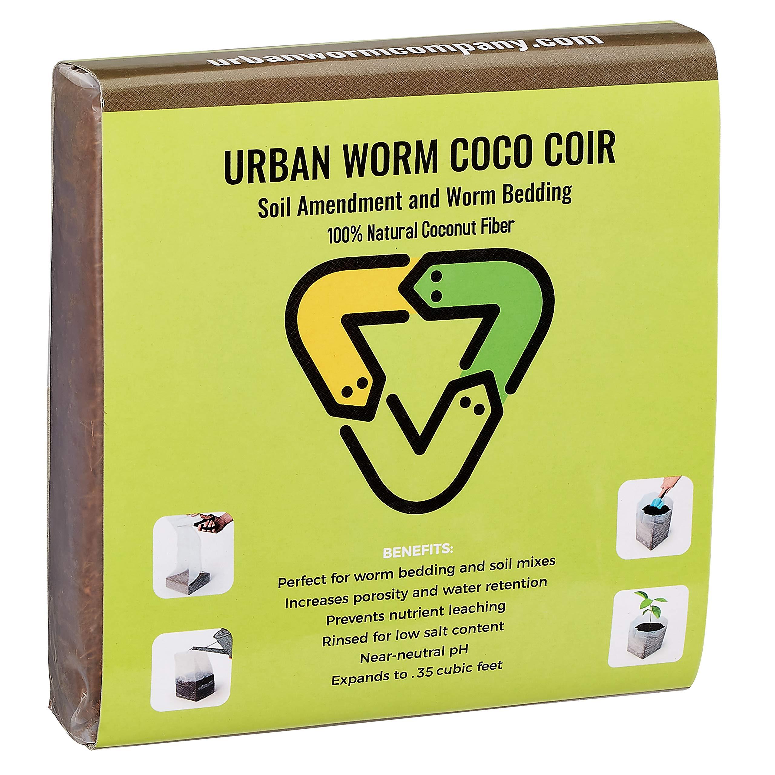 Urban Worm Coco Coir Soil Amendment and Bedding