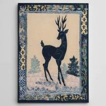 Wexford Home Deer Silhouette Gallery Wrapped Canvas Wall Art, 12x16,
