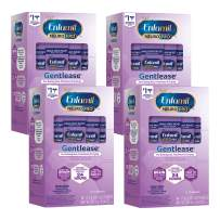 Enfamil NeuroPro Gentlease Baby Formula Gentle Milk Powder, MFGM, Omega 3 DHA, Probiotics, Iron & Immune Support, 14 Count per pack, 8.54 Ounce, Pack of 4