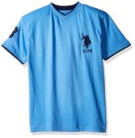 U.S. Polo Assn. Boys' Short Sleeve Solid V-Neck T-Shirt