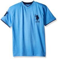 U.S. Polo Assn. Boys' Short Sleeve Solid V-Neck T-Shirt