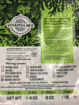 VitaminSea Organic Kelp Wild Atlantic - Granulated Flakes Laminaria Digitata Seaweed - 4 oz / 112 G - Maine Coast Granule Sea Vegetables - USDA & Vegan - Kosher Certified - For Keto Diets (DG G4)