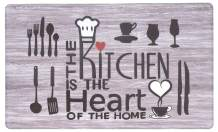 "Rugshop Kitchen Heart Anti Fatigue Mat 18"" x 30"" Gray"